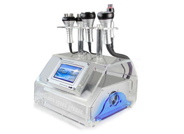 Tripolar RF Head 5 In 1 Cavitation Machine , Vacuum Ultrasonic Cavitation Machine