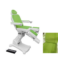Green Color Soft Leather Pedicure Chair with Bowls For Nail Salon Furniture
