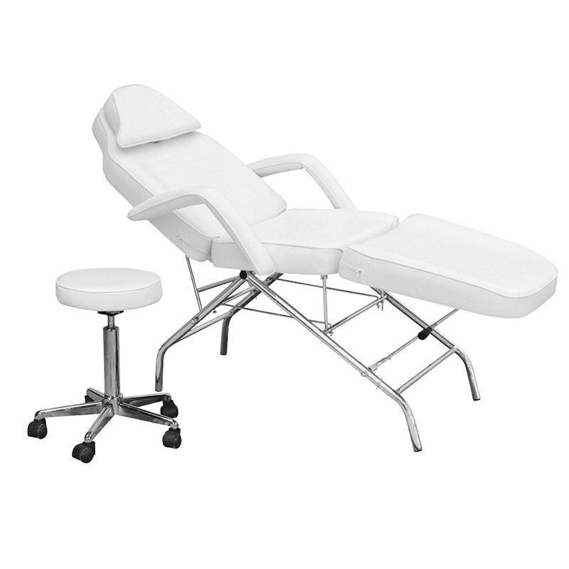 Salon Facial Beauty Electric Pedicure Chair Adjustable With A Round Stool