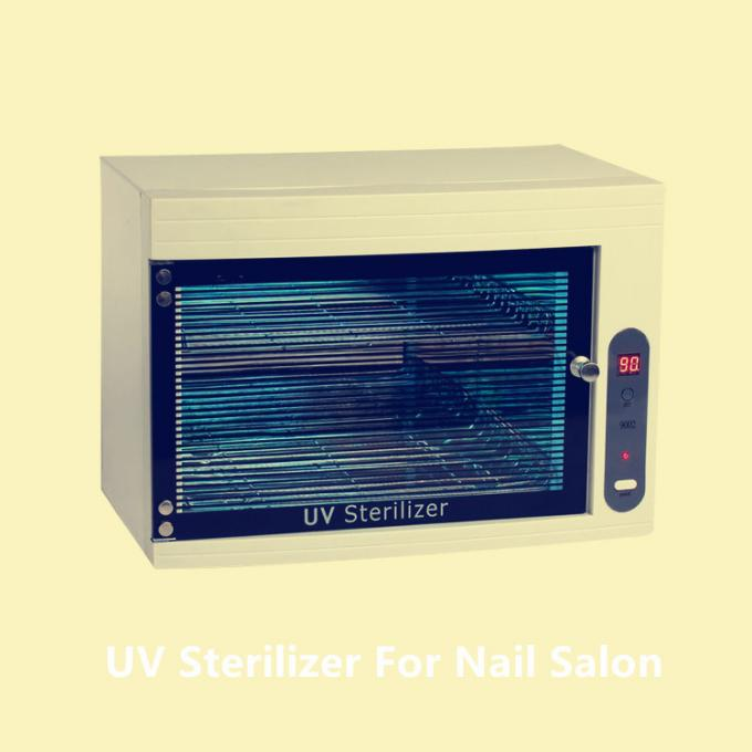 Plastic 8w Hot Towel Cabinet With UV Light 254nm For Menicure Nail Salon