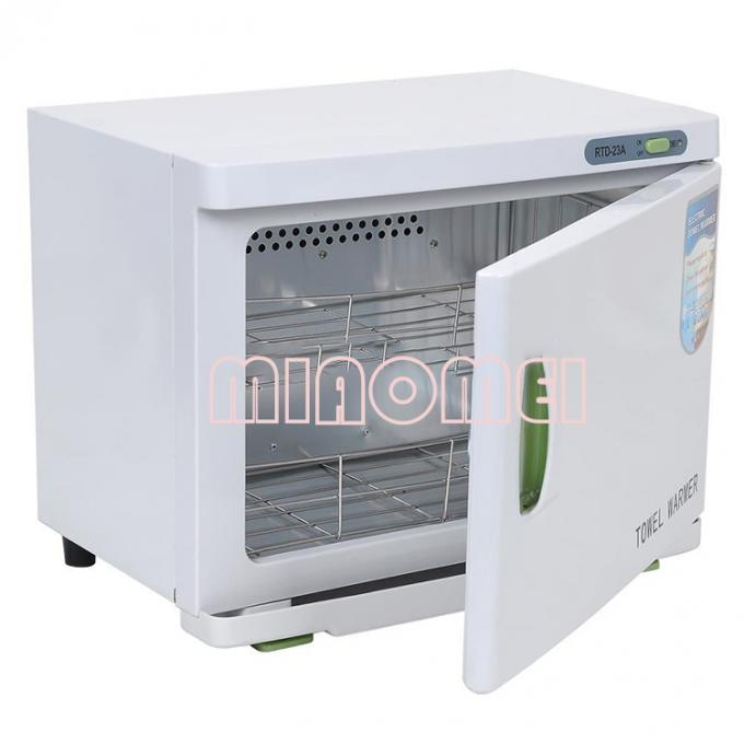 White Color Towel Cabinet For Salon Beauty Machine With UV Lamp Warmer