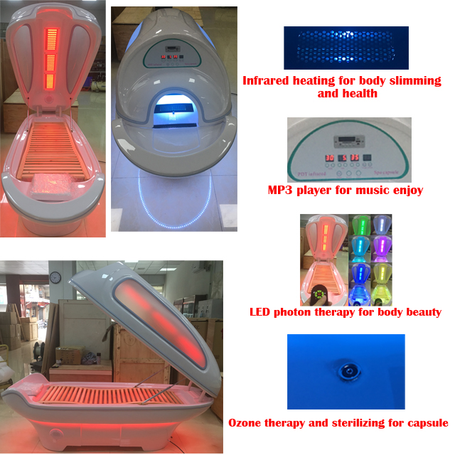 Infrared Light Salon Beauty Machine For Slimming With Ozone And Infrared Sauna