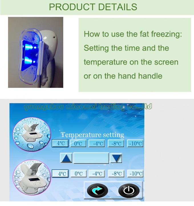 Cryolipolysis Fat Freezing Slimming Machine With Two Cryo Heads For Velashape