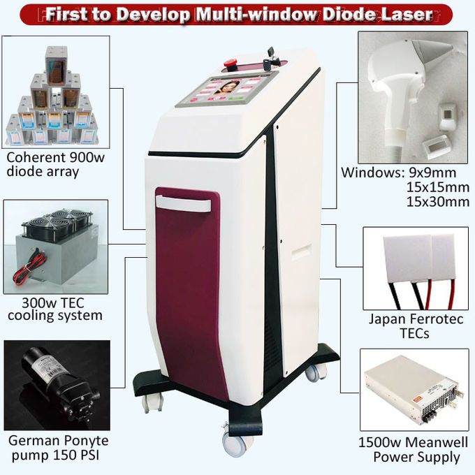 Powerful 2000W Full Body and All Color Skin Hair Removal Machine Laser Hair Removal Equipment