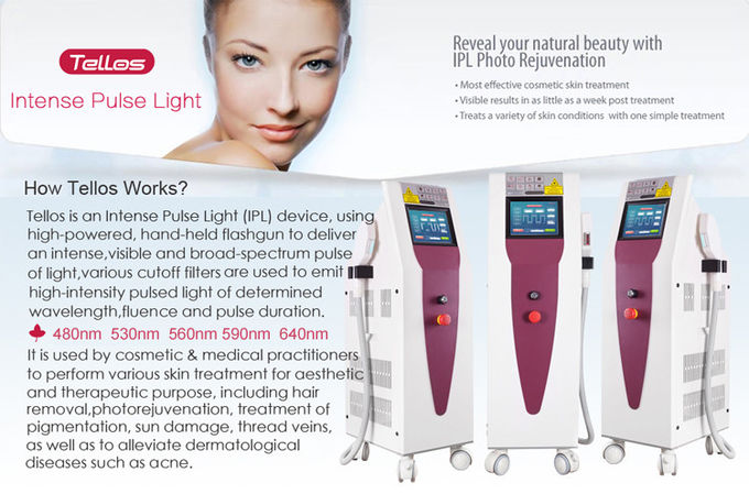 OPT IPL Beauty Machine 480nm-640nm 5 Functions Multifunction Freckle Hair Removal Equipment