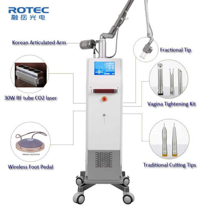 30w CO2 Fractional Laser Machine Vaginal Tightening Equipment High Efficiency